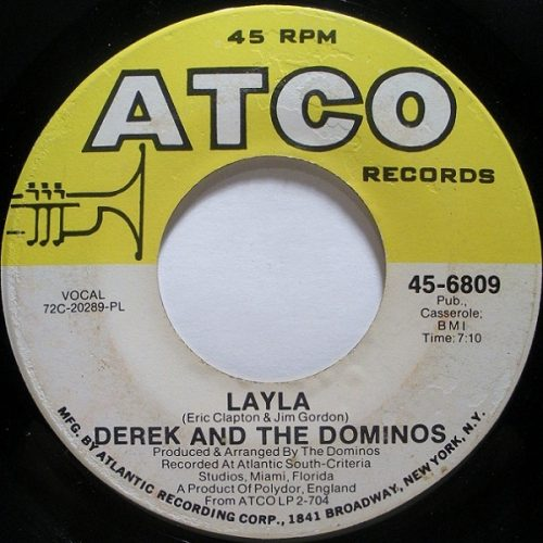 Derek and Dominos Layla Single