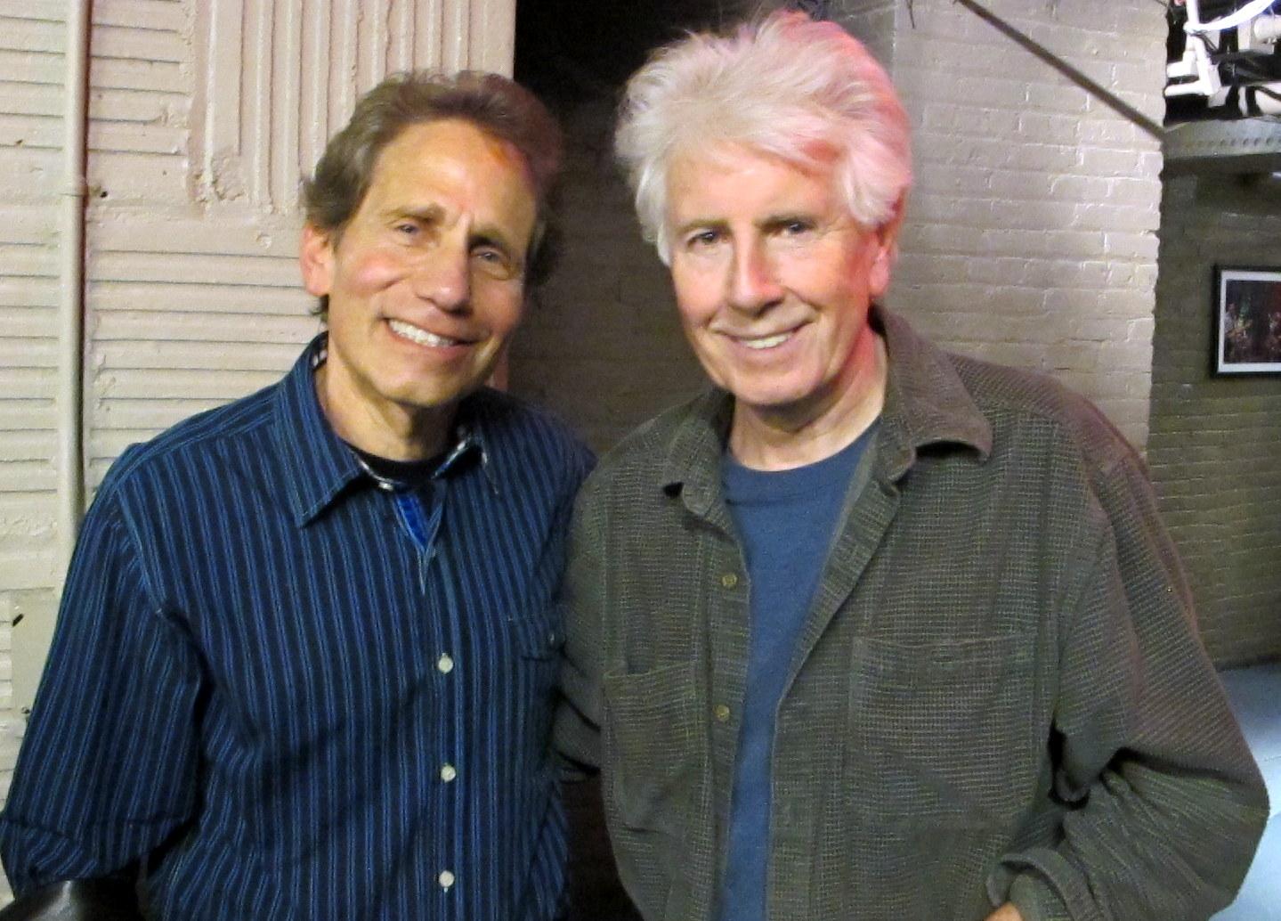 Nash & Elsas at the WFUV-FM studios/Photo courtesy of Dennis Elsas
