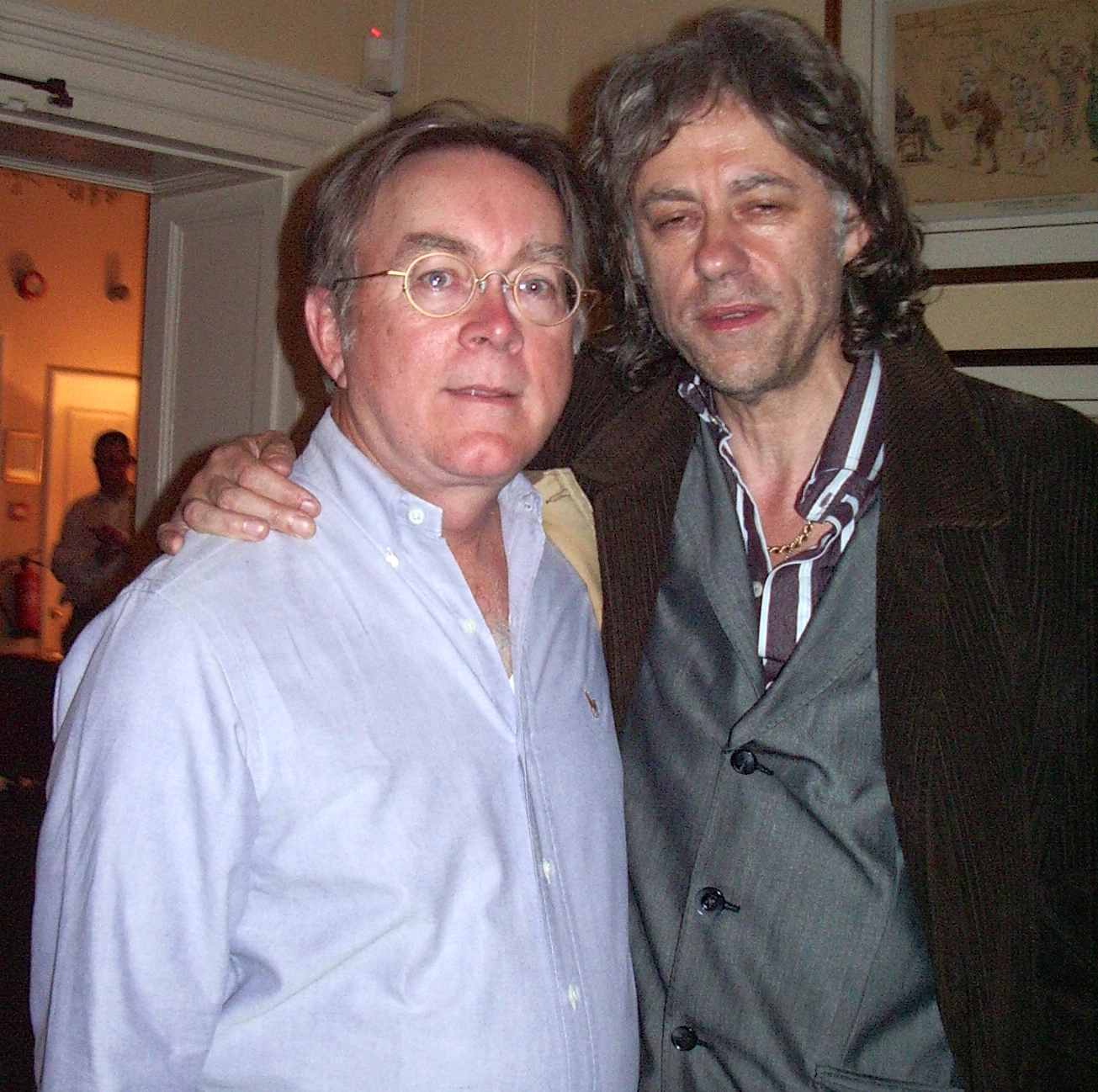 A rat-free Bone & Sir Bob years later in London/Photo courtesy of Mike Bone
