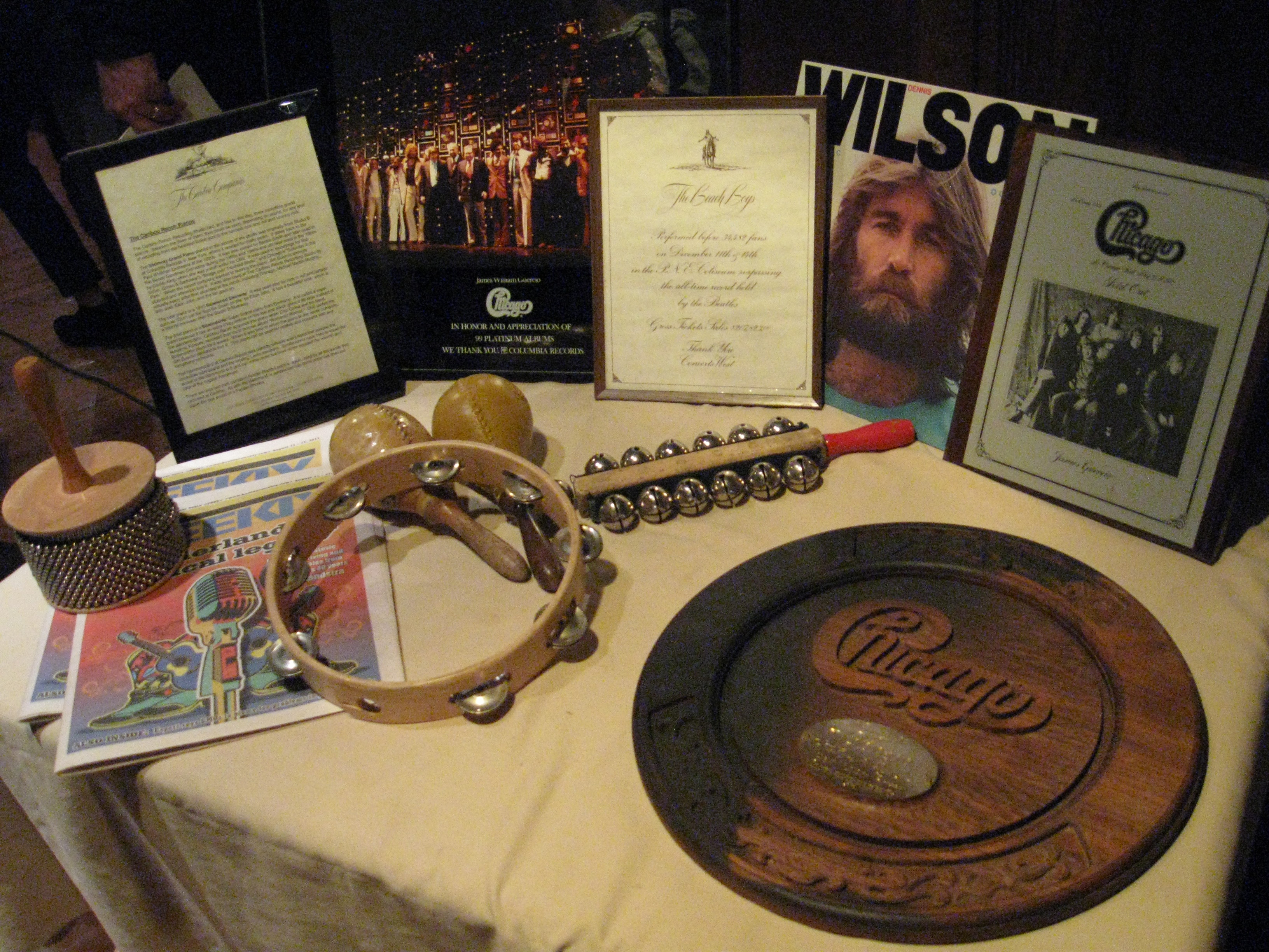 Some of the memorabilia sold at auction/Photo by Mark Brown