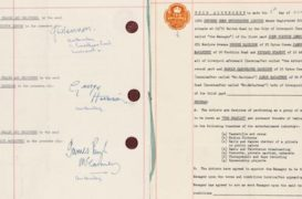 Sept. 29, 2015: Beatles – Brian Epstein Contract Sold at Auction