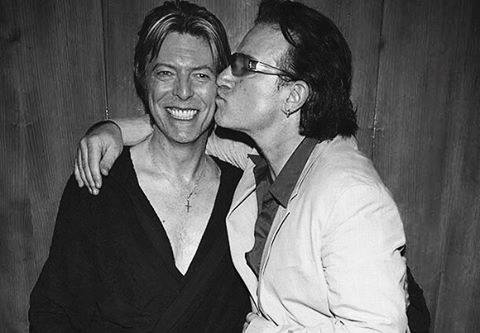 David Bowie and Bono via U2 Facebook page