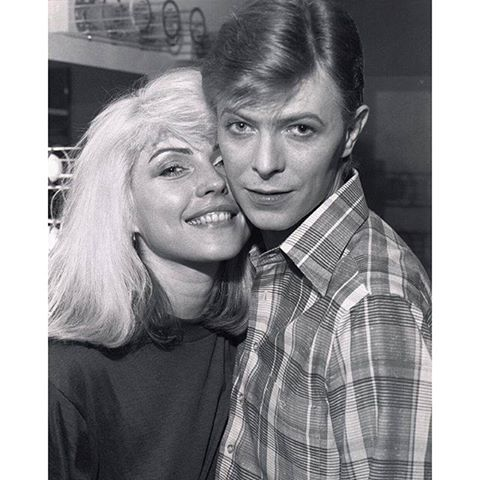 Debbie Harry and David Bowie by Chris Stein