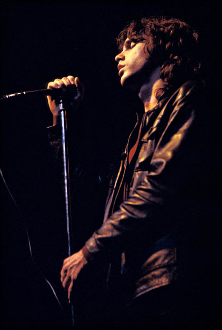 Jim Morrison, The Doors, Fillmore East, NYC, 1968.  Photo By ©Elliott Landy, LandyVision Inc.