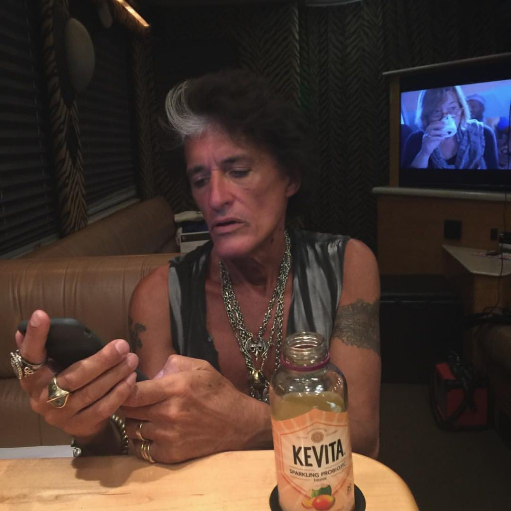 """Joe Perry, in an uncredited photo on his Facebook page, which read in part: """"On our way to play Coney Island"""""""