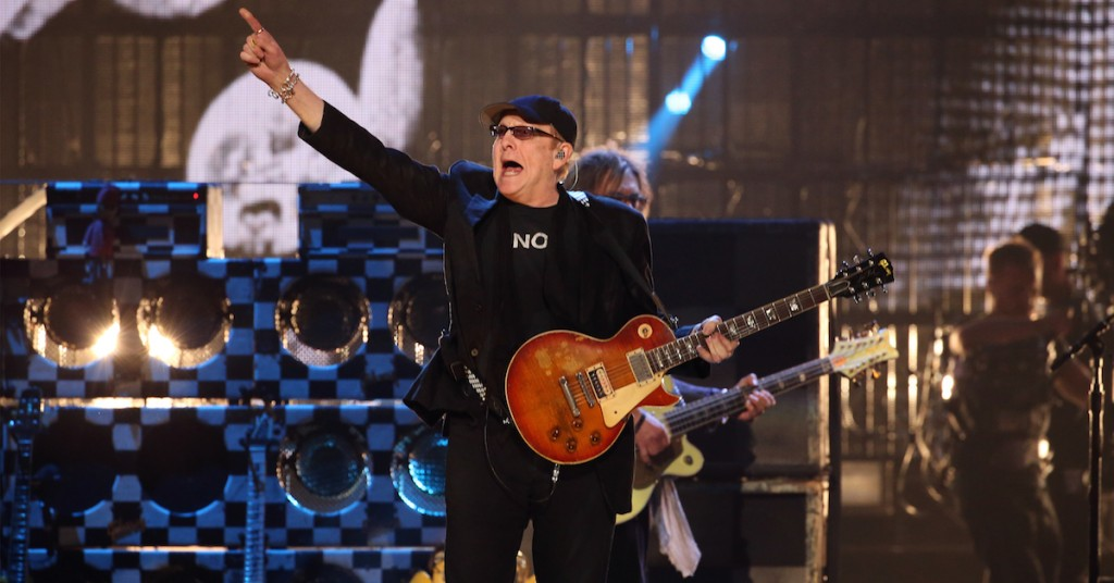 NEW YORK, NEW YORK - APRIL 08: Rick Nielsen of Cheap Trick performs onstage at the 31st Annual Rock And Roll Hall Of Fame Induction Ceremony at Barclays Center of Brooklyn on April 8, 2016 in New York City. (Photo by Kevin Kane/WireImage for Rock and Roll Hall of Fame)