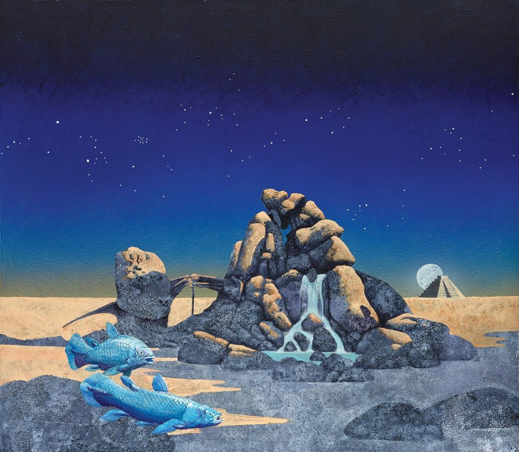 "As Yes' Facebook page notes: ""One of the incredible Roger Dean artworks in the new TFTO package!"""
