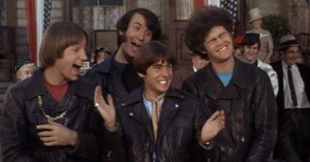 The Monkees in 1967. Left to right: Peter Tork, Michael Nesmith, Micky Dolenz, Davy Jones