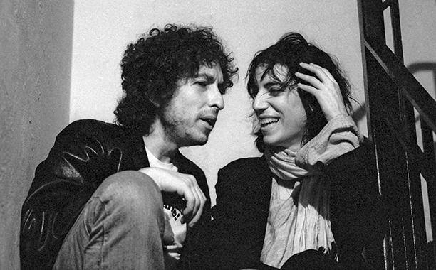 Bob Dylan and Patti Smith in an undated photo from Smith's Facebook page
