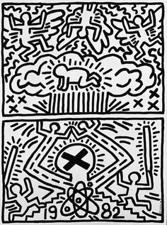 Rally Poster by artist Keith Haring