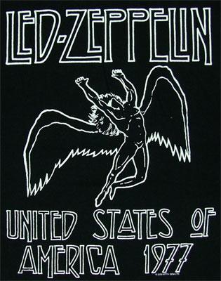 Led Zep 1977 Tour Art