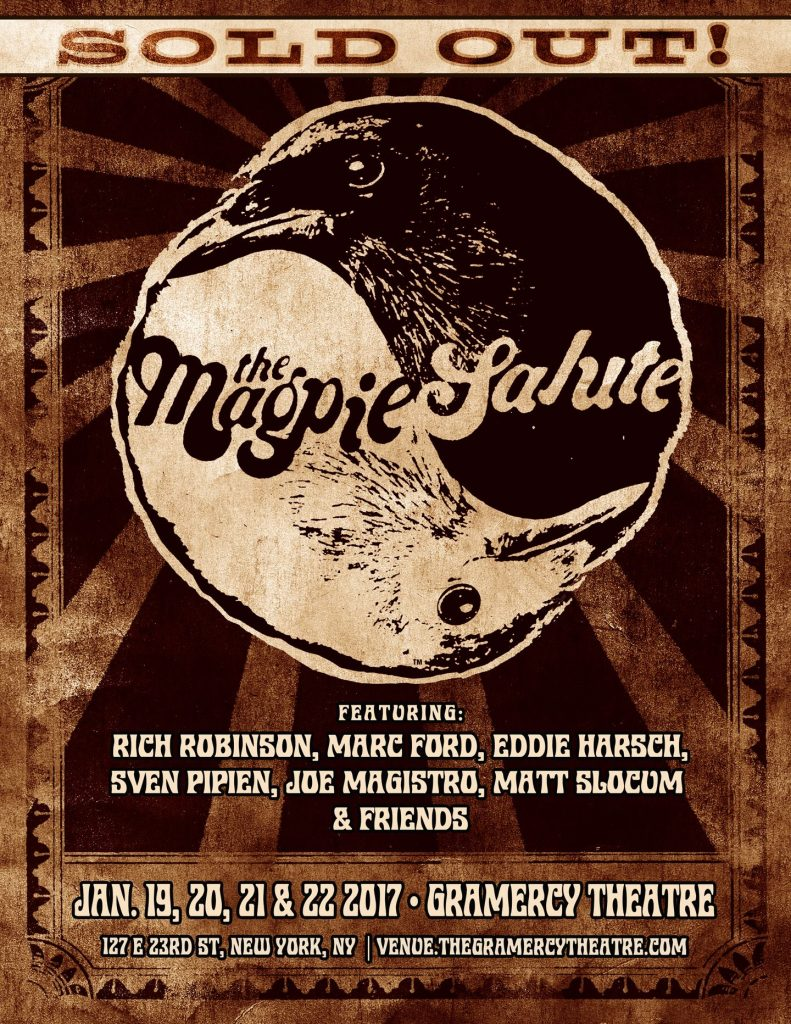 Original poster for the forthcoming Magpie Salute tour