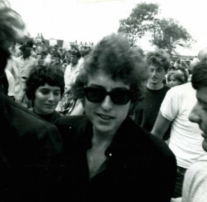 Dylan at Newport '65/Photo by Herb Van Dam, courtesy of Elijah Wald
