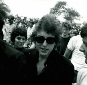 Dylan at Newport '65/Photo by Herb Van Dam, courtesy of Elijah Wald