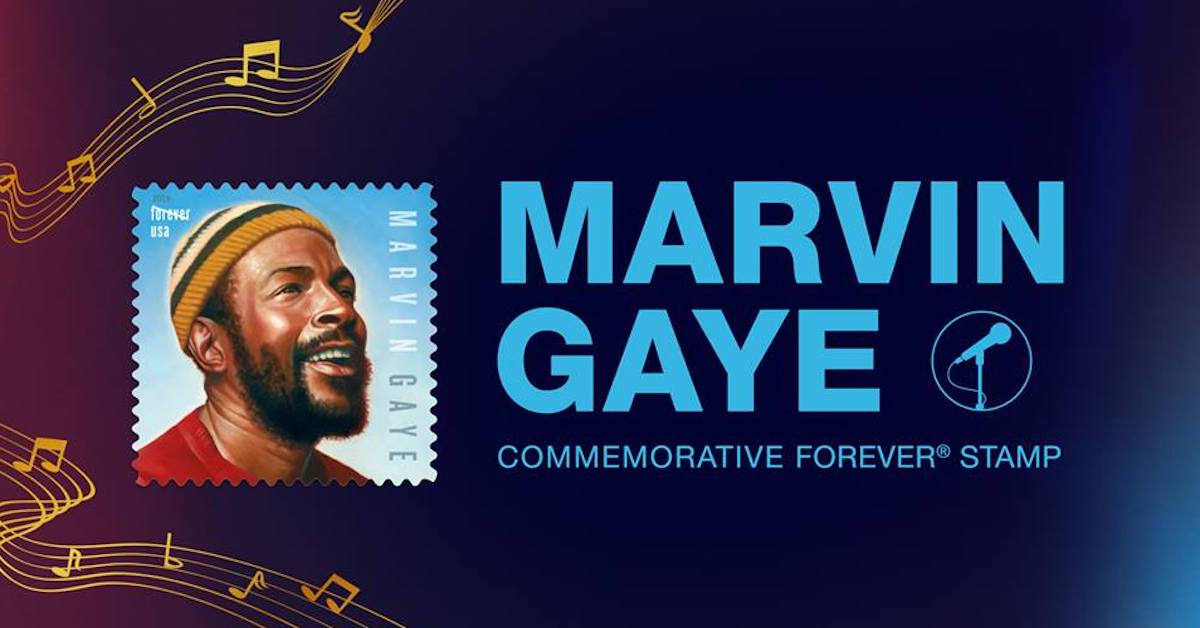 Marvin Gaye Stamp Issued By U S P S  on 80th Birthday | Best