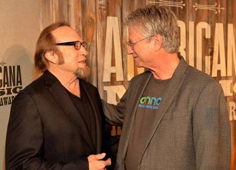 Furay (R) with his Buffalo Springfield bandmate Stephen Stills (via Furay's Facebook page)