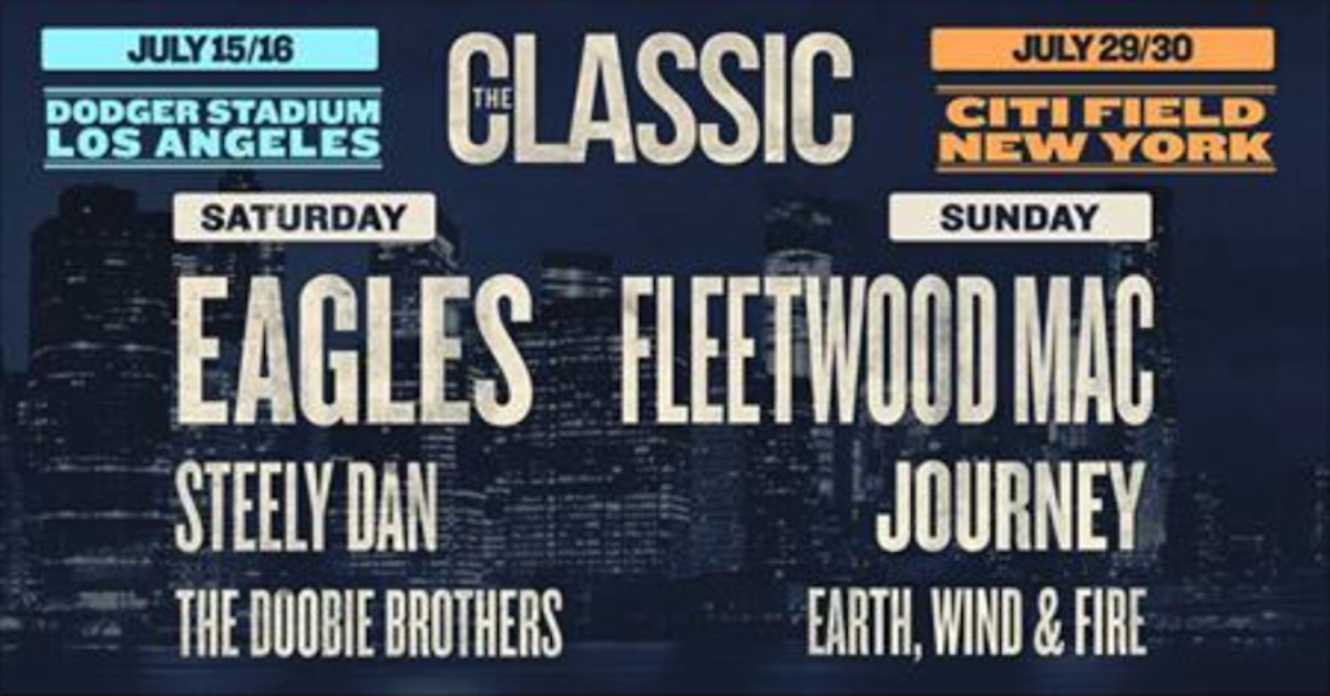 Eagles And Fleetwood Mac Tour Tickets