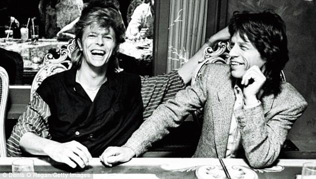 David Bowie and Mick Jagger via Jagger's FB page
