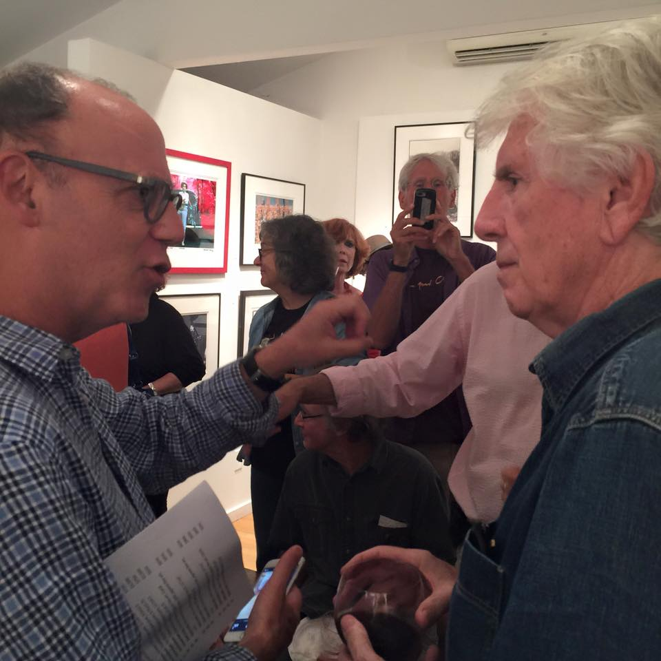 Graham Nash at a photo exhibit of his work with Best Classic Bands' Founder Greg Brodsky in August 2015