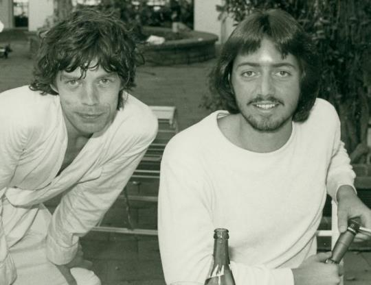 Mick Jagger with this story's author, Scott Paton, in 1978