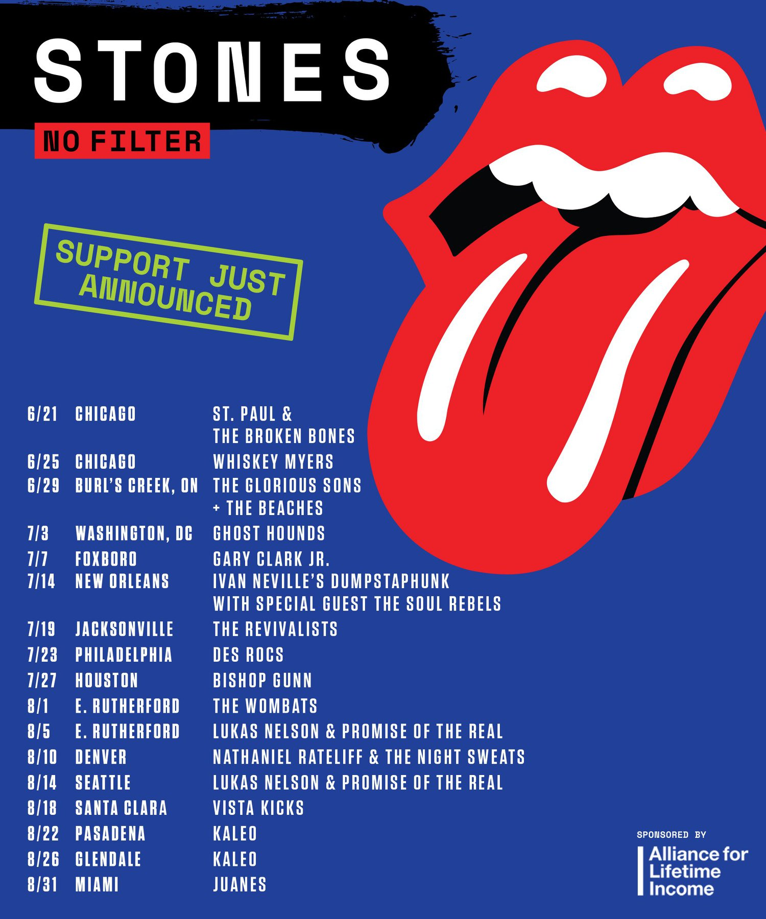 rolling stones set opening acts for 2019 tour best classic bands. Black Bedroom Furniture Sets. Home Design Ideas
