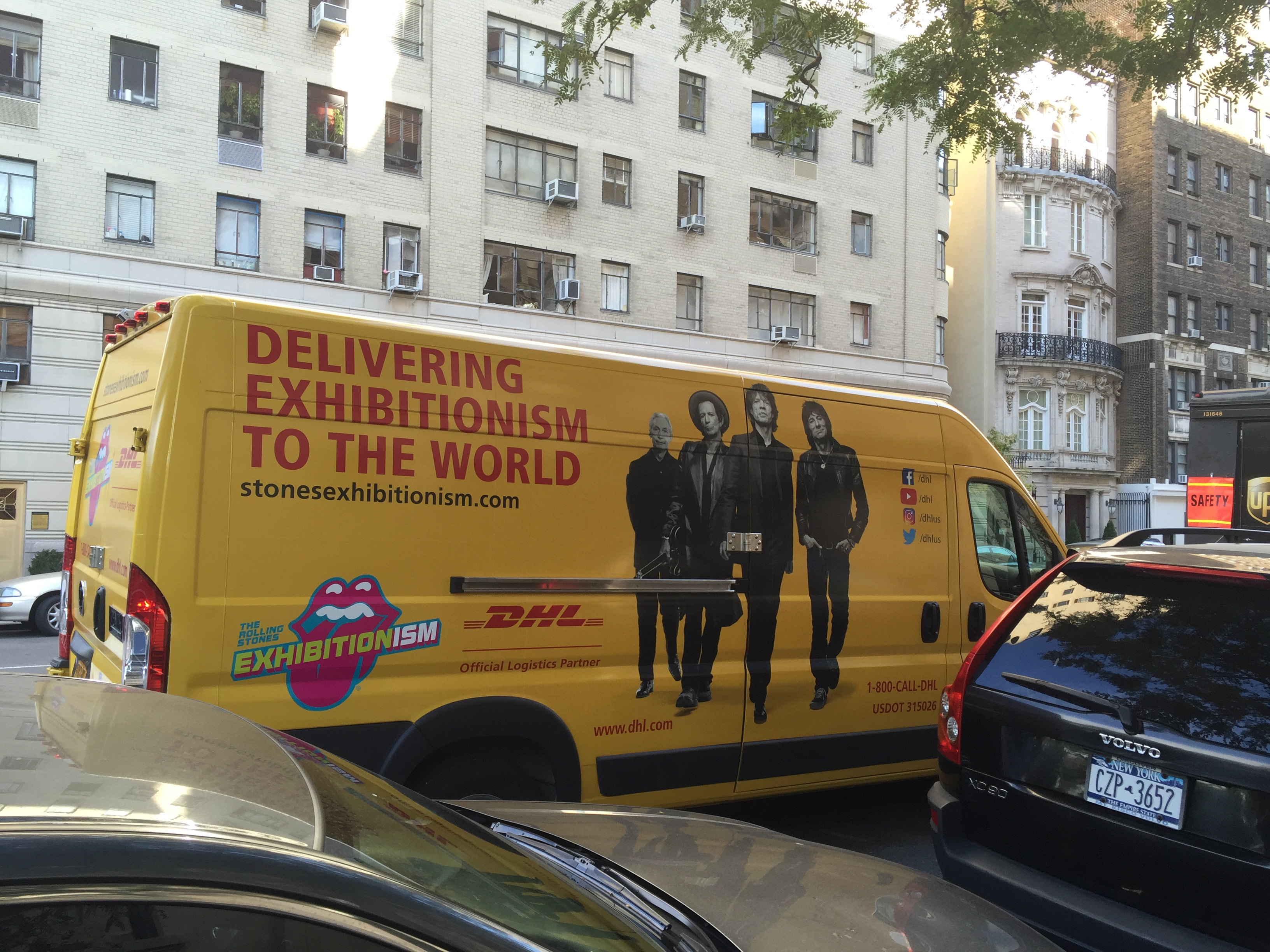 Rolling Stones Exhibitionism DHL van in New York City, October 2016 (Photo: Greg Brodsky)