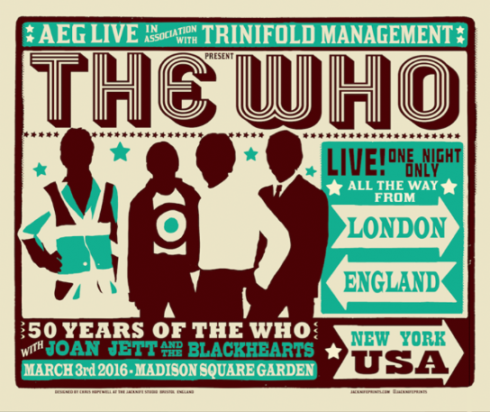 The Who MSG 2016 Poster