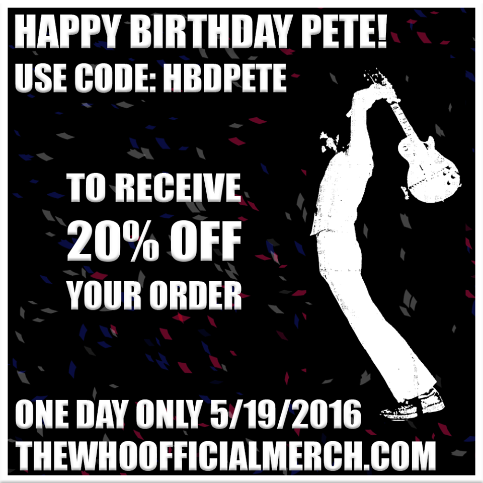 The Who Store Discount 5-19-16