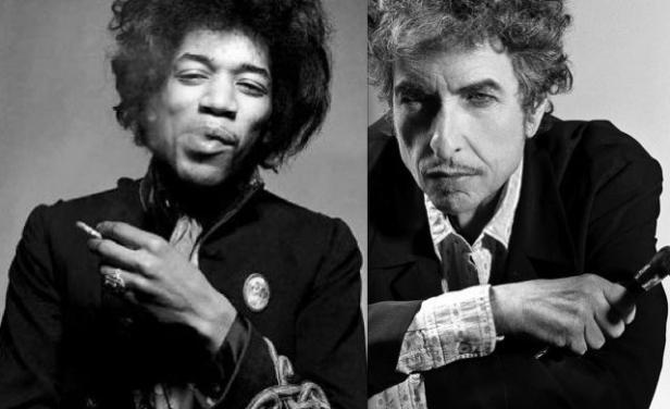 JHF-EARLYDAYS-Jimi&B.Dylan