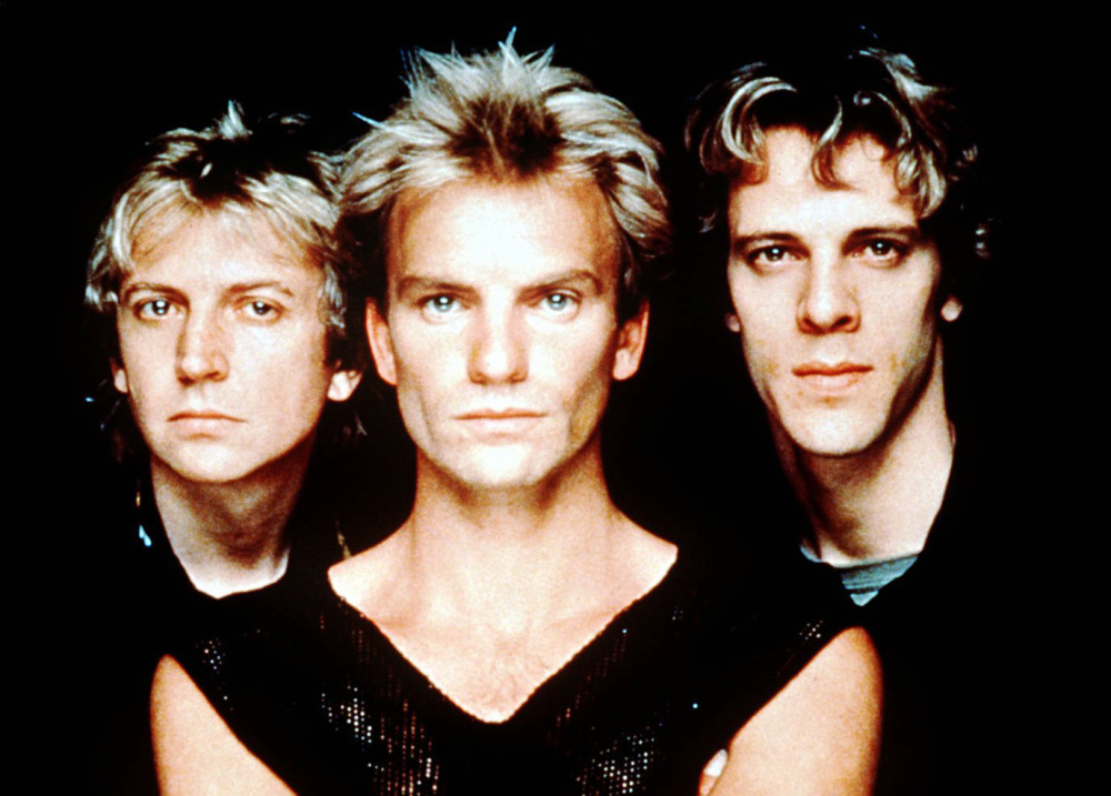 The Police, in an undated photo, from left, Andy Summers, Sting, Stewart Copeland