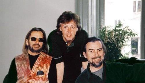 Nov 12 01 George Paul Ringo Meet For Last Time