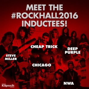 Rock Hall 2016 Inductees