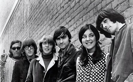 Photo of Jefferson Airplane from 1966 via Marty Balin's Facebook page. Paul Kantner is the second person from the left; Signe Anderson is second from right