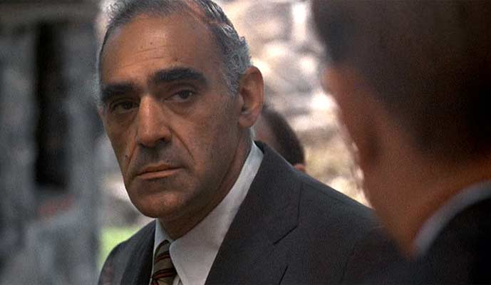 Abe Vigoda as Salvatore Tessio in 1972's The Godfather
