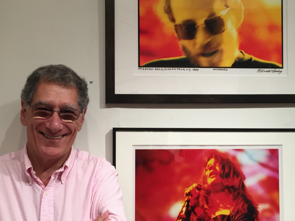 Landy at an August 2015 exhibit of his work, Woodstock NY. Photo: Greg Brodsky