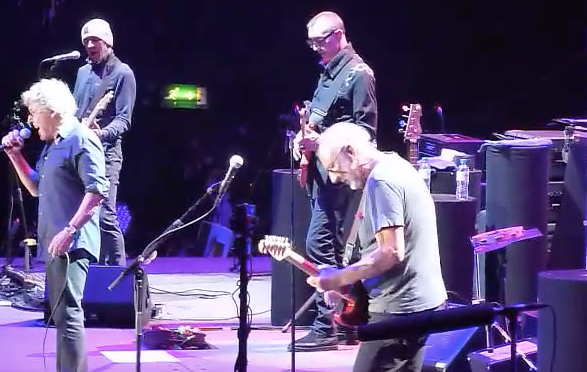 The Who performing at SSE Arena, February 13 2016 (YouTube screen cap)