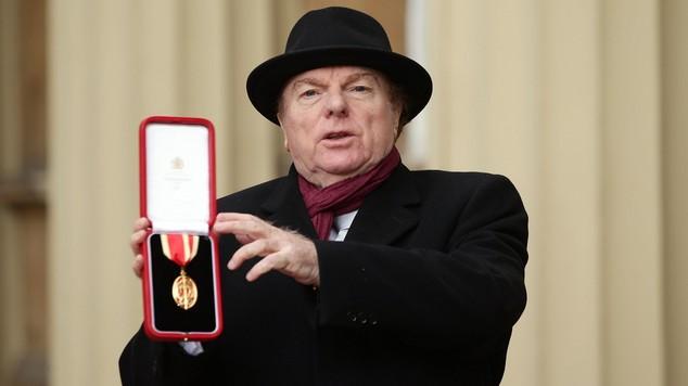 Sir Van Morrison at his Knighthood ceremony at Buckingham Palace