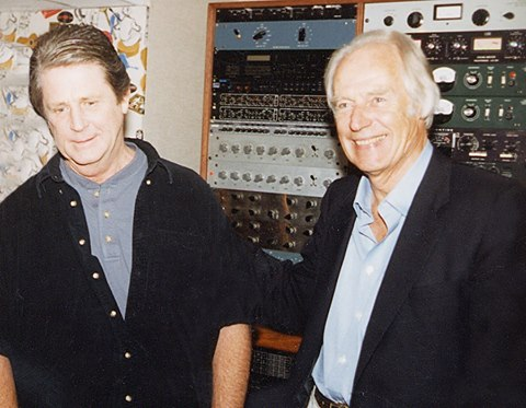 Brian Wilson and George Martin in an updated photo from Wilson's Facebook page