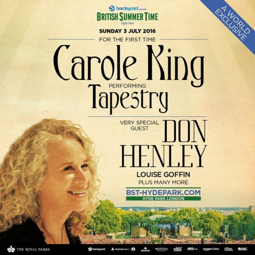 Carole King Hyde Park 2016
