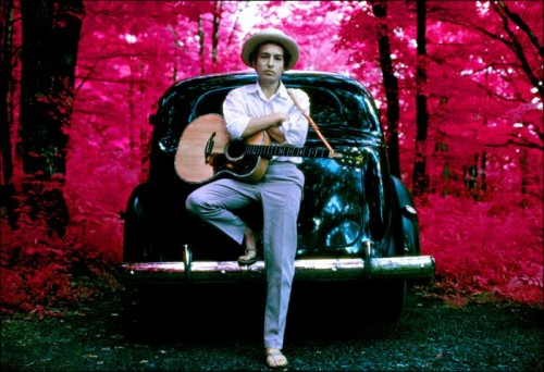 Bob Dylan outside his Woodstock home in 1968 © Landy Vision. Used with permission.