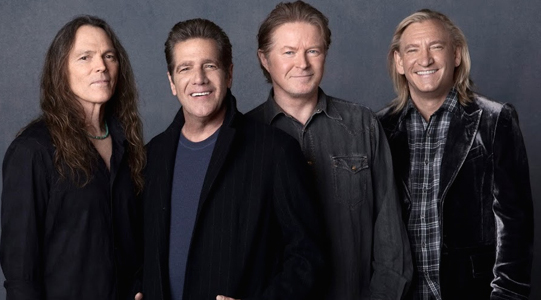 The Eagles (l. to r.): Timothy Schmit, Glenn Frey, Don Henley and Joe Walsh