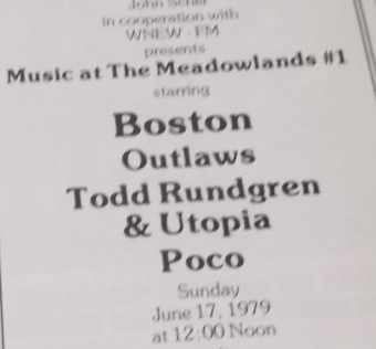 Concert program from Music at the Meadowlands #1