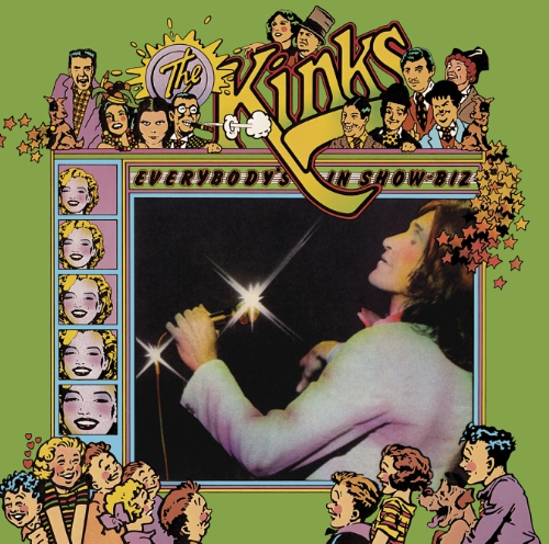 The Kinks' Everybody's in Showbiz LP Cover