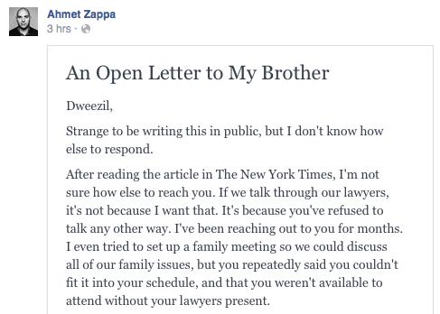 Ahmet Zappa Letter 5-4-16