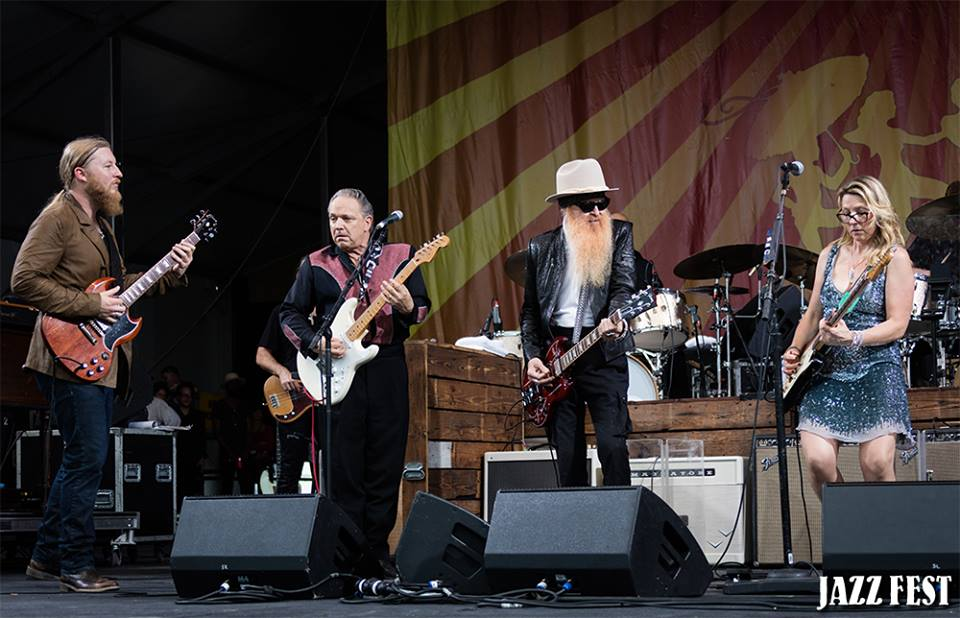 Tedeschi Trucks Band with Jimmie Vaughan and Billy Gibbons 4-28-16 Photo: Douglas Mason via Jazz Fest)