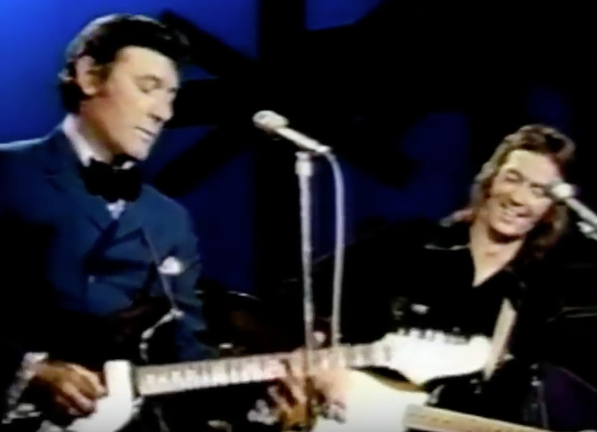 "Carl Perkins and ""Derek"" performing ""Matchbox"" on The Johnny Cash Show"