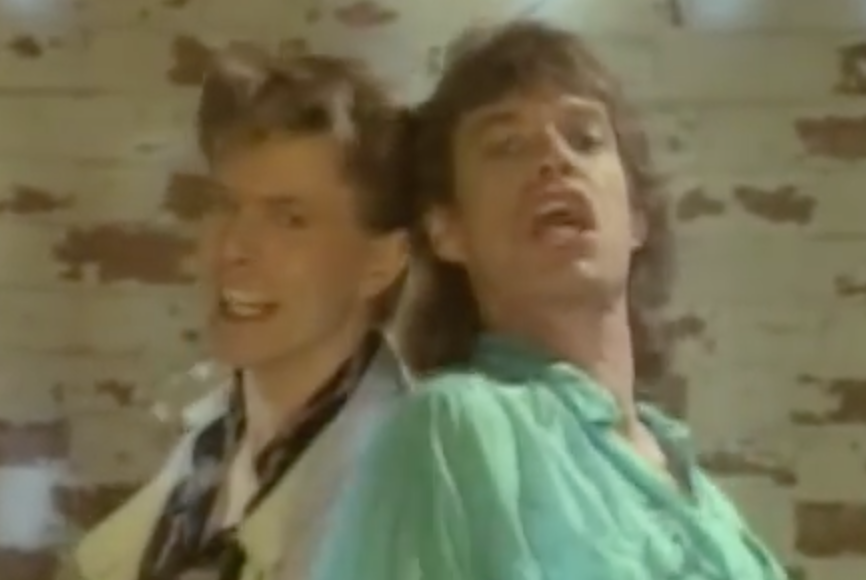 Mick Jagger David Bowie Dancing Video Screen Cap