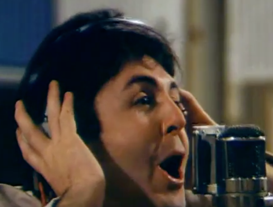 Paul McCartney during the recording at Abbey Road Studios, October 3, 1978