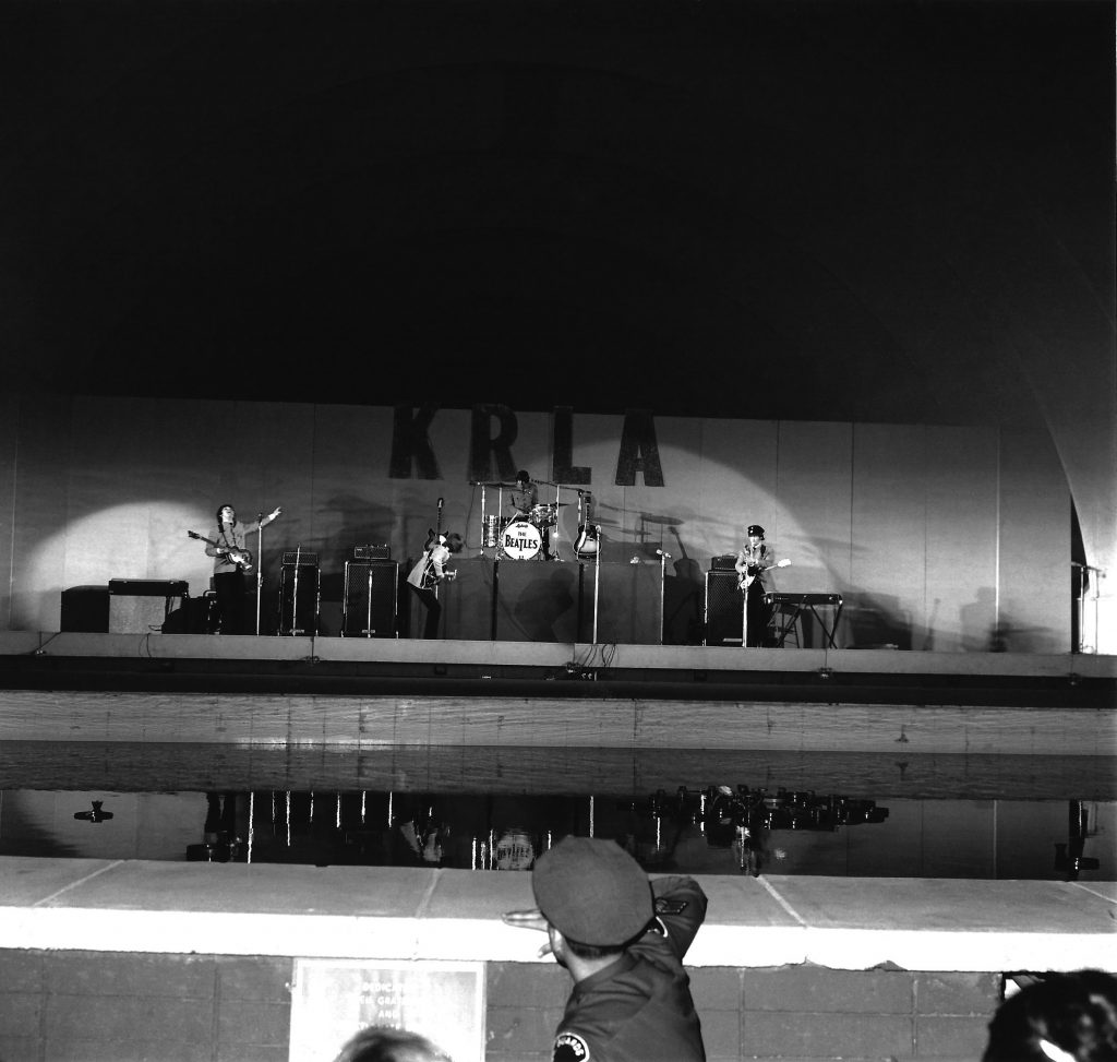 The Beatles perform at Hollywood Bowl in Los Angeles, California on 29 August 1965. © The Music Center Archives/ Otto Rothschild Collection (via Apple Records Ltd./Universal Music)