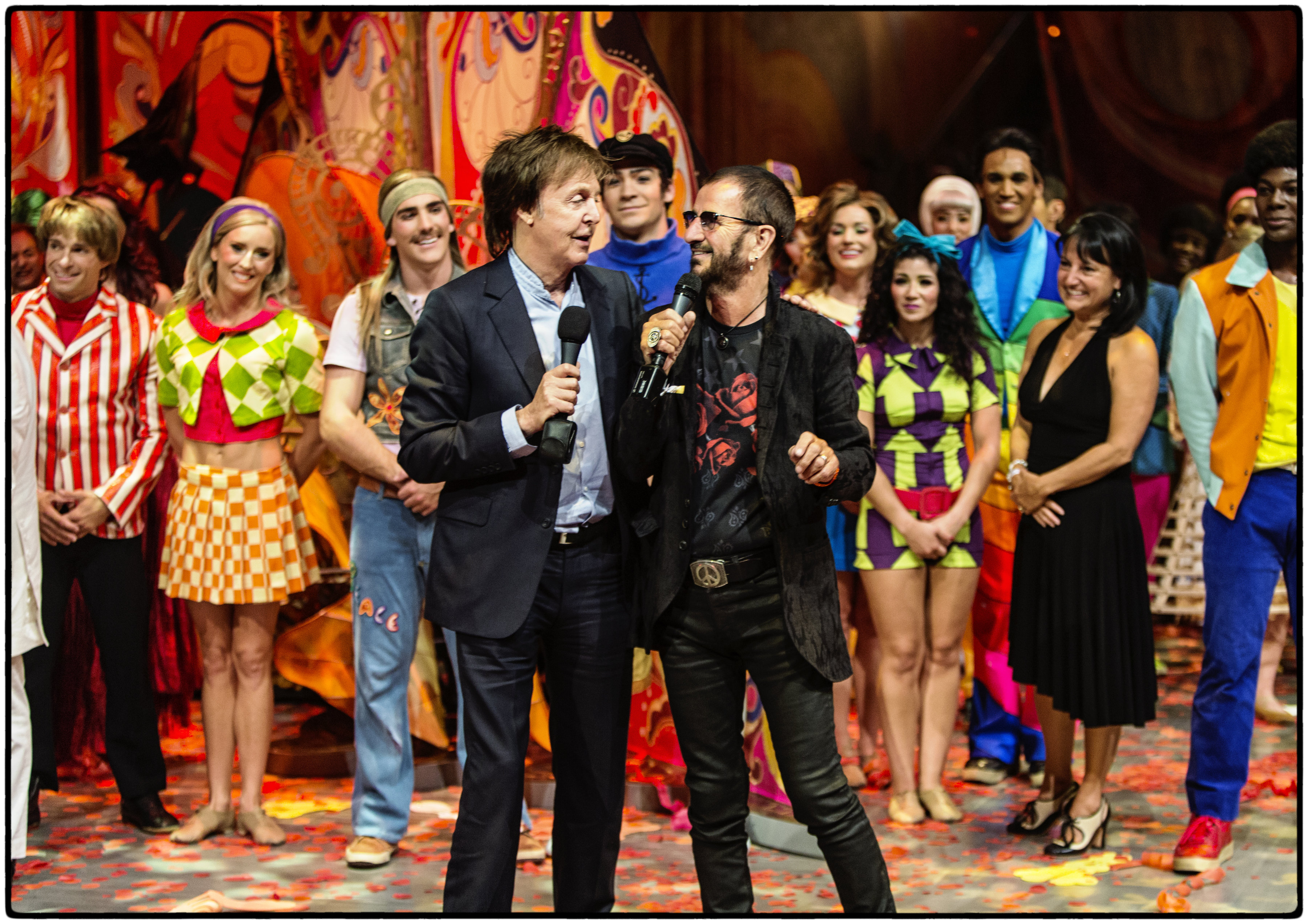 Beatles Love Show 10th Anniversary McCartney And Starr